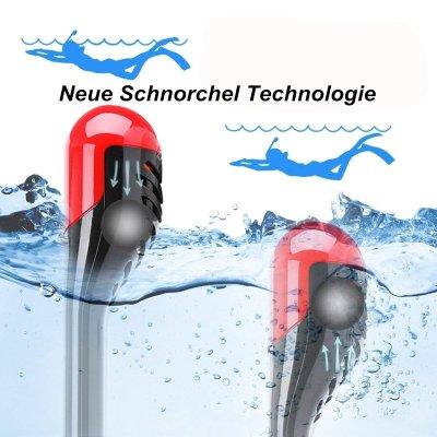 Dry Top Technologie bei der Schnorchelmaske