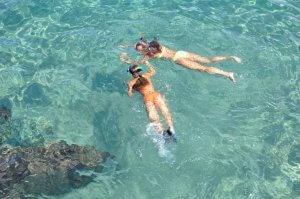 Mädchen am Schnorcheln Mauritius