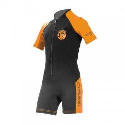 XXXL Schwarz//Orange Cressi Herren Altum Wetsuit Shorty Neoprenanzug Premium Neopren 3mm